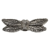 Metal Bead Dragonfly's Wing Antique Pewter